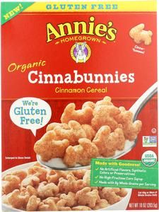 Annie's Organic Cinnabunnies Cereal is gluten-free, made with whole grains and chickpea flour. Pack in a yummy cinnamon taste that the whole family will love. Cinnamon Cereal, Real Cinnamon, Cereal Granola, New Cereal, Organic Cereal, Gluten Free Cereal, Sorghum Flour, Breakfast Cereal, Breakfast Time