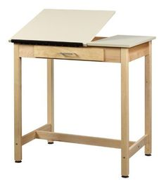 """37"""" High Drafting Table with 2 Piece Adjustable Top IWA132 by Shain Solutions. $589.00. 37"""" High Drafting Table with 2 Piece Adjustable TopbyShain Solutions Trusted: 20+ Years Experience. Overall: 36 in W x 24 in D x 37 in H ,"""
