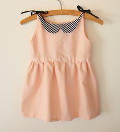 Peter Pan Collar 2T Pink Girls Dress by TajandMe on Etsy, $39.50