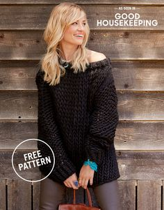 Wonderwool Sweater by Wool and the Gang X Good Housekeeping / FREE PATTERN  #woolandthegang #goodhousekeeping #crazysexywool #free #pattern #sweater #knitting #knit
