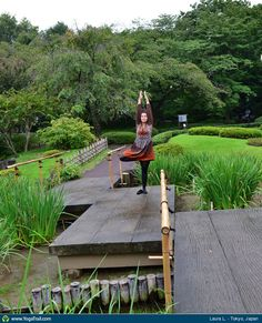 #Yoga Poses Around the World: Tree Pose taken in Tokyo, Japan by Laura L.