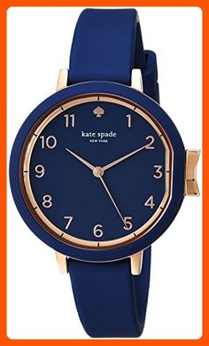 b0c337f47207 kate spade new york Women s  Park Row  Quartz Stainless Steel and Silicone  Casual Watch