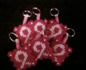 plastic canvas breast cancer keychains