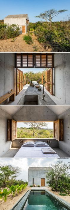 The Tiny Casa: a minimal, low-impact cabin in the town of Puerto Escondido, Mexico. Available for rent on Airbnb!