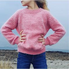 No Frills Sweater Junior – PetiteKnit Knitting Projects, Drops Design, Knit Cardigan, No Frills, Simple Designs, Outfit Of The Day, Knitwear, Knitting Patterns, Knit Crochet