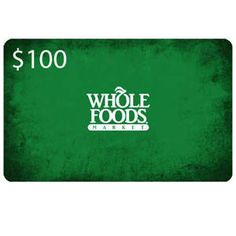 PRIZE: $100 Whole Foods Gift Card