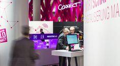Deutsche Telekom Stand @ Hannover Messe 2015   brand experince   3D communication   trade fair   exhibition design   concept digital project   hartmannvonsiebenthal   corporate architecture