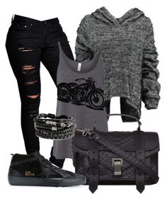 """""""Desportivo"""" by alice-fortuna on Polyvore featuring Boohoo, Taylor, Proenza Schouler and Golden Goose"""