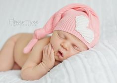 Upcycled Newborn Hat Purple Bear Hat with Pink by rowanstreehouse