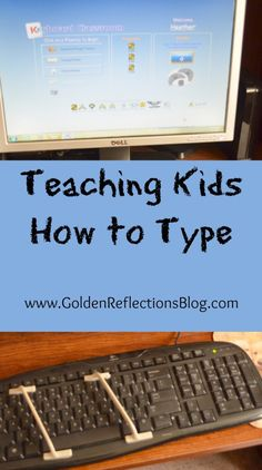 Teaching Kids How to Type - A Review of Keyboard Classroom typing program, perfect for kids with special needs too!   www.GoldenReflectionsBlog.com