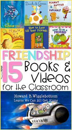Teachers can use these 15 friendship books and videos for the classroom to teach kids friendship skills: how to make friends and how to be a good friend. These resources work well during social-emotional learning lessons and activities. Teaching Friendship, Friendship Lessons, Friendship Theme, Friendship Activities, Preschool Friendship, Social Emotional Development, Social Emotional Learning, Social Skills, Best Friend Activities