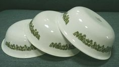Vintage Corelle by Corning Crazy Daisy Green Spring Blossom