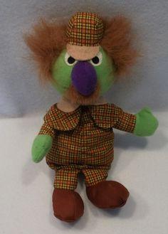 "1997 Sesame Street SHERLOCK HEMLOCK 9"" plush toy doll by Tyco"