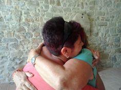 Abbraccio con mamma Luciana http://www.fabriziocatalano.it/18-19-20-luglio-rischiamo-il-coraggio-incontri-fraternita-di-romena/