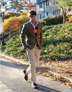 preppy guy style - loving the blazer.