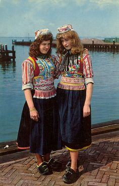 Marken, Netherlands, Traditional Costumes #NoordHolland #Marken