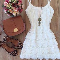 Vestido Branco Tricot - Look Store