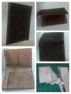 Minimalist Vegetable tanned leather Wallet