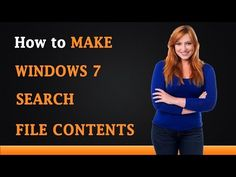 How to Make Windows 7 Search File Contents - YouTube Learn Online, Contents, Windows, The Originals, Learning, Search, Youtube, Studying, Searching