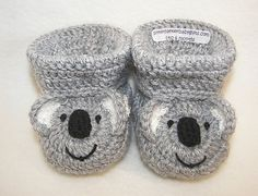 Koala Bear Baby Booties - $4.99 by Sara Ayers