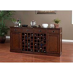 Canton 4-piece Modular Bar/ Wine Storage Set | Overstock.com Shopping - Big Discounts on Bars