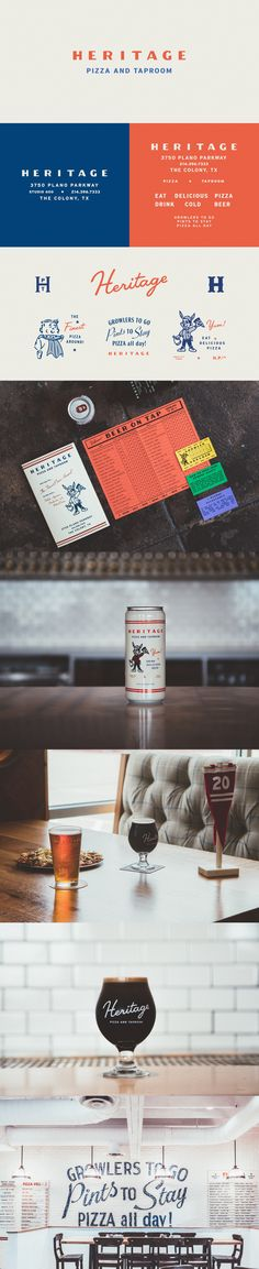 Heritage Pizza and Taproom Branding by Tractorbeam