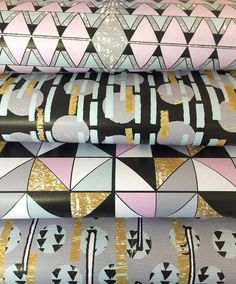 Geometric print wrapping paper