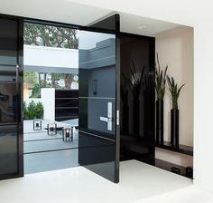 Modern Front Door Design From Jennifer Post Modern Interior, Home Interior Design, Interior Decorating, Interior Doors, Interior Ideas, Modern Luxury, Exterior Design, Wall Exterior, Exterior Cladding