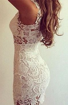 Pretty lace dress- would be great for the rehearsal dinner. From Colors of Aurora