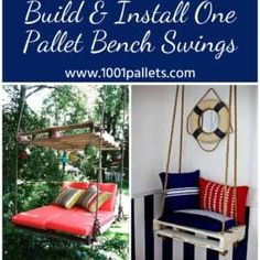 Get Your Grow On: Back Porch Pallet Gardeners Hutch paletten-tutorial-schaukelbank Recycled Pallet Furniture, Recycled Pallets, Plastic Pallets, Pipe Furniture, Furniture Vintage, Baby Furniture, Industrial Furniture, Vintage Industrial, Garden Furniture