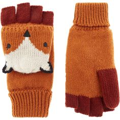 Accessorize Thins Felicity Fox Capped Glove (£22) ❤ liked on Polyvore featuring accessories, gloves, cold weather gloves, fox gloves and thin gloves