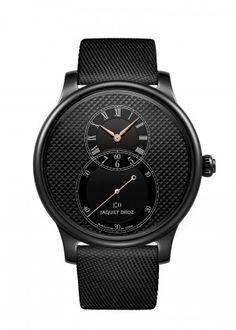 Grande Seconde Black Ceramic Clous De Paris | Dial with black Clous de Paris decoration. Black ceramic case. Self-winding mechanical movement. Power reserve of 68 hours. Diameter 44 mm. Numerus Clausus of 28.