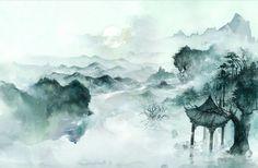 Tranh vẽ phong cảnh – phong cách cổ phong | Old杨