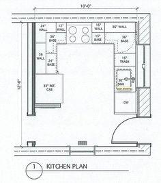 10 X 12 Kitchen Layout | 10 x 10 Standard Kitchen ...