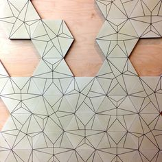 Origami cement tiles series by Sophie Fetro for French brand Carodeco // A Walk Through Maison&Objet September 2014 | Flodeau.com