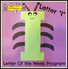 "Letter ""I"" -Letter of the Week Program – Crafts – Buchstaben Lernen Preschool Letter Crafts, Alphabet Letter Crafts, Alphabet Book, Preschool Lessons, Preschool Activities, Letter Art, Abc Crafts, Letter Tracing, Kids Crafts"