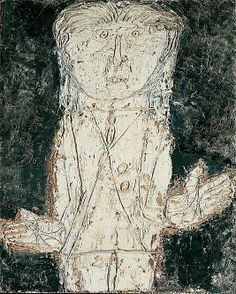 Jean Paulhan  Jean Dubuffet (French, Le Havre 1901–1985 Paris)  Date: 1946 Medium: Acrylic and oil on Masonite Dimensions: 42 7/8 x 34 5/8 in. (108.9 x 87.9 cm) Classification: Paintings Credit Line: Jacques and Natasha Gelman Collection, 1998 Accession Number:1999.363.20 Rights and Reproduction: © 2011 Artists Rights Society (ARS), New York