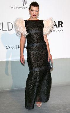 Milla Jovovich from amfAR Gala 2014: Red Carpet Arrivals | E! Online