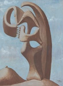Abstraction: Background with Blue Cloudy Sky - Pablo Picasso - The Athenaeum