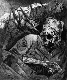 cabinet-betteraves-crues:  Sketches on war by German painterOtto Dix
