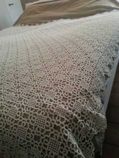 Chiq handmade crochet bedspread vintage door ScheveningsePracht
