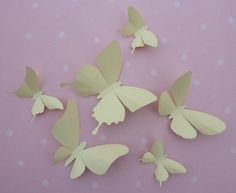 3D Wall Butterflies  20 Ivory Cream Butterfly by BugsLoft on Etsy, $24.00