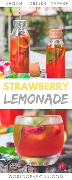 The days of the good old basic lemonade are gone! This delicious strawberry mint lemonade is here to trake over and you'll absolutely love it! Refreshing Drinks, Fun Drinks, Yummy Drinks, Healthy Drinks, Healthy Smoothies, Beverages, Mint Lemonade, Strawberry Lemonade, Virgin Cocktail Recipes