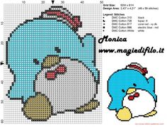 Little Penguin cross stitch pattern