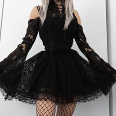 Gothic Outfits, Edgy Outfits, Mode Outfits, Cute Casual Outfits, Pretty Outfits, Pretty Dresses, Beautiful Dresses, Gothic Lolita Fashion, Grunge Outfits