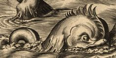 Sea serpent shown on old chart: Maybe he can chase my ship...