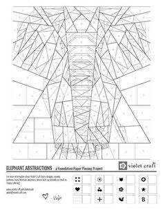 Distinct Lifestyle Fabric and Sewing Patterns Coloring Pages — Violet Craft Free Paper Piecing Patterns, Quilt Block Patterns, Pattern Paper, Quilt Blocks, Elephant Paper Piecing, Elephant Quilts Pattern, Elephant Applique, Paper Quilt, Paper Pieced Quilts
