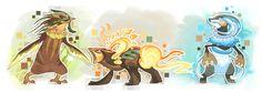 Fakemon starters Final evolution by griffsnuff on deviantART
