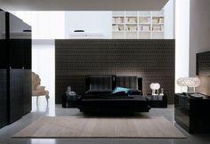 El color negro en la decoración de interiores Wall texture unique