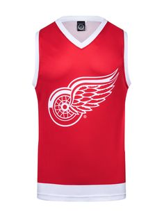 """Bench Clearers - Home of the All-Season Lifestyle Hockey Tanks. There's no longer an """"off-season"""". You're now free to Rep your team colors all year long. Fits like a hockey basketball jersey. Red Wings Hockey, Men's Hockey, Nhl Players, Detroit Red Wings, Athletic Tank Tops, How To Wear, Tanks, Basketball Jersey, 4 Life"""